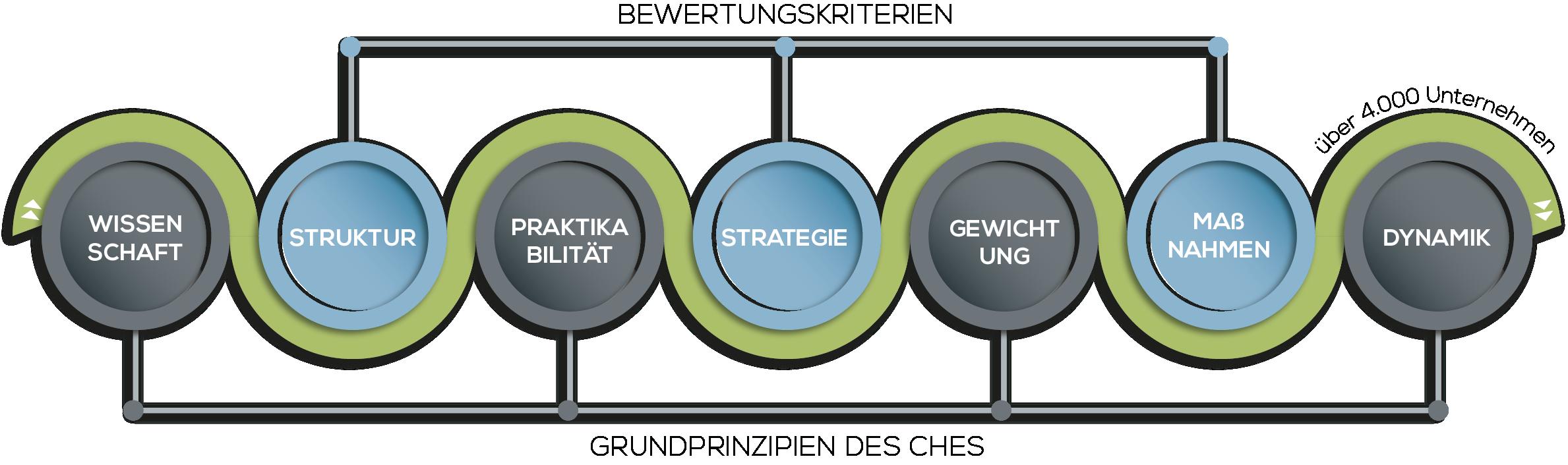 Infografik - Corporate Health Evaluations Standard